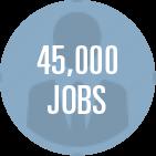45,000 jobs icon