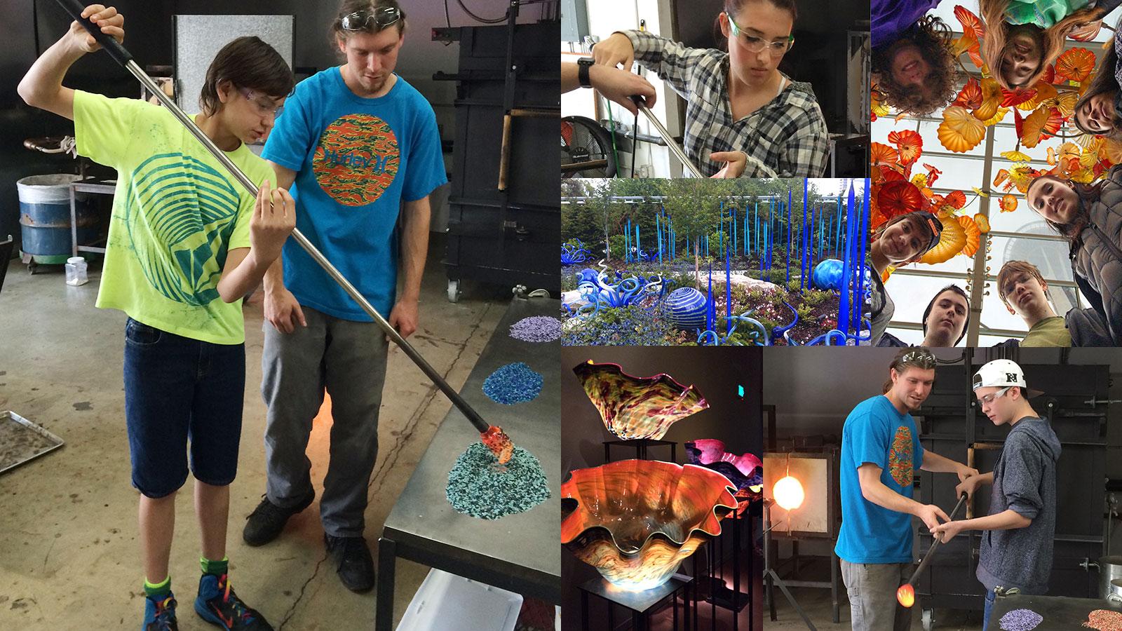 Lead Prep students experiencing glassblowing