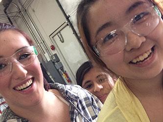 Student selfie