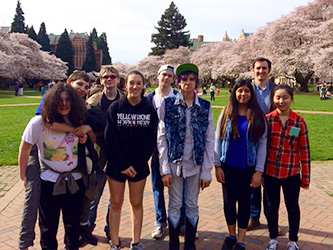 Lead Prep students visiting University of Washington