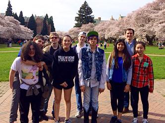 Lead Prep students visiting University of Washington