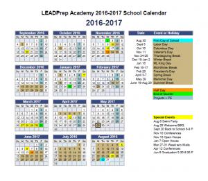 2016-17 Calendar